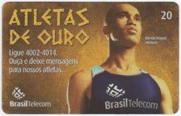 BRASIL G-814 Magnetic BrasilTelecom - Sport, Olympic Games, Goldmedal Winner - Used - Brasilien