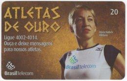 BRASIL G-818 Magnetic BrasilTelecom - Sport, Olympic Games, Goldmedal Winner - Used - Brasilien