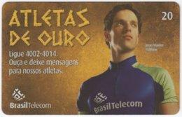 BRASIL G-819 Magnetic BrasilTelecom - Sport, Olympic Games, Goldmedal Winner - Used - Brasilien