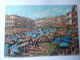 "Cartolina Viaggiata ""VENEZIA Canal Grande, Regata Storica"" 1974 - Venezia"