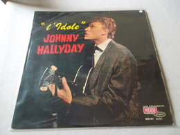 VINYLE 33 T JOHNNY HALLYDAY L'IDOLE DISQUES VOGUE MDINT 9095 - Rock