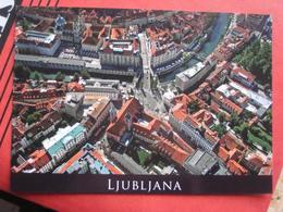 Ljubljana / Laibach - Flugaufnahme Tromostovje - Slovénie