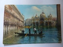 """Cartolina Viaggiata """"VENEZIA - Eccezionale Alta Marea In Piazza S. Marco"""" 1974 - Venezia"""