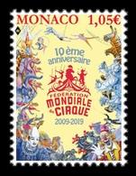 Monaco 2019 Mih. 3422 World Circus Federation. Fauna. Tigers. Horses. Camels. Elephants MNH ** - Neufs