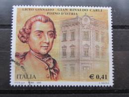*ITALIA* USATI 2003 - LICEO GINNASIO CARLI - SASSONE 2677 - LUSSO/FIOR DI STAMPA - 6. 1946-.. Repubblica