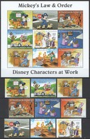 D320 ST.VINCENT DISNEY CHARACTERS AT WORK MICKEY'S LAW & ORDER 1KB+1SET MNH - Disney