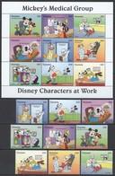 D321 GUYANA WALT DISNEY CHARACTERS AT WORK MICKEY'S MEDICAL GROUP 1KB+1SET MNH - Disney