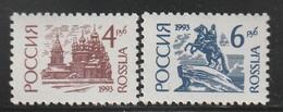 RUSSIE - N°5998/9a **  (1993) Série Courante -papier Normal - 1992-.... Fédération