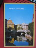 Ljubljana / Laibach - Regulirana Ljubljanica V Srediscu - Slowenien