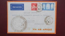 Algerie Lettre Inauguration Service Aérien Regulier  Alger Tananarive Madagascar Novembre 1935 - Algeria (1924-1962)