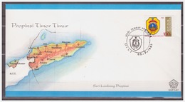Indonesia 1983 FDC 147 Arms Of Province Timor Timur - Indonesia