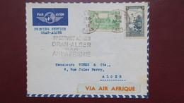 Algerie Lettre 1er Service Aérien Oran Alger Par Air Afrique Avril  1937 - Algeria (1924-1962)