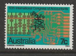 M 1030) Australien 1972 Mi# 503 **: Kongress Für Rechnungswesen, Schalt-Relais Abakus Zahlen Rechnen - Computers
