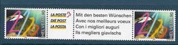 Timbres Neufs** De Suisse, N°1634 Yt  2 Timbre Avec Vignette, Nouveau Millénaire, Globe Terrestre - Neufs