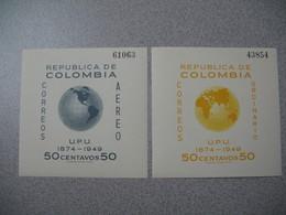 Bloc   N° 4 Et 5    Republica De Colombia Correos Ordinario UPU 1874 - 1949  50 Centavos 50    Neuf ** - Colombia