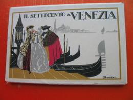 Bertani.IL SETTECENTO A VENEZIA.BAROCCO VENEZIANO-12 Old Postcards+cover - Venezia (Venice)