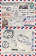 LETTRE.   PREMIER VOL  PARIS MEXICO AIR FRANCE 1952 - Air Post