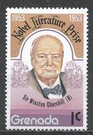 Grenada 1978. Scott #828 (MNH) Winston Churchill, Nobel Prize Winner * - Grenade (1974-...)