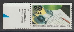 M 1025) USA 1991 MI# 2307 **: Entzifferung Feindlicher Geheim-Codes, 1942 , 2. WK, WW2 - Computers