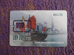 GSM SIM Card,Hongkong/Macau Seven Days Traveling Card, Only Frame Without Chip - Hong Kong