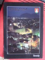 Ljubljana / Laibach - Nachtansicht - Slovénie