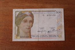 Billet  300  Francs  Banque De  France   1938 - 1871-1952 Anciens Francs Circulés Au XXème