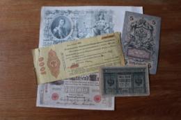 Bon Lot De Billets Anciens  à Identifier  Dont Russie, Allemagne  ... - Coins & Banknotes