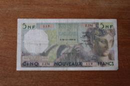 Billet  5 Francs   Banque De L'Algérie  5 Nouveaux Francs   1959 - Algérie