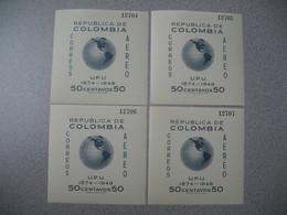 Bloc   N° 5 X 4 Expl    Republica De  Colombia Correos Ordinario  UPU 1949  Neuf ** - Colombie