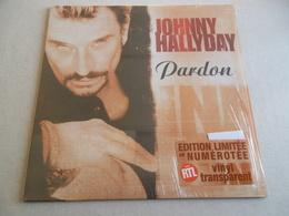 VINYLE MAXI 45 T JOHNNY HALLYDAY PARDON EDITION LIMITEE ET NUMEROTEE - Rock