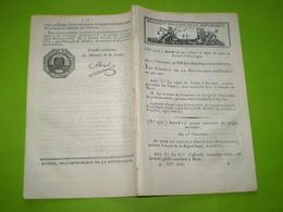 Lois An VIII:Sabre Latour D'Auvergne.Déportés De Guyane Sur Ile De Ré & D'Oléron.Roer,Sarre,Rhin,Moselle,Mont Tonnerre - Decrees & Laws