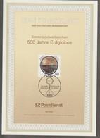 M 1021) BRD 1992 MI# 1627 ETB: 500 Jahre Erdglobus, Behaim - Geography