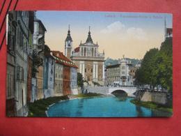 Ljubljana / Laibach - Franziskanerkirche Und Brücke / Zensur 1916? - Slowenien