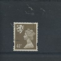 STAMPS - SCOTLAND - S88 - ELLIPTICAL HOLE 41p  FINE USED - Regional Issues