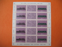 Bloc   Suisse  Helvetia   100 Ans Ligne Du Gothard  1882 - 1992    Neuf ** - Schweiz