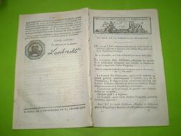Loi An VII: Conseil Des Anciens:traité De Paix & D'alliance France Suisse . Alliance Offensive & Défensive - Decrees & Laws