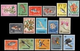 Singapur 1962 - Mi-Nr. 53-68 ** - MNH - Fauna & Flora - Singapour (1959-...)