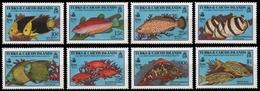 Turks- & Caicos 1990 - Mi-Nr. 920-927 ** - MNH - Fische / Fish - Turks & Caicos (I. Turques Et Caïques)