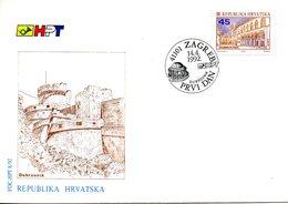 CROATIE. N°155 De 1992 Sur Enveloppe 1er Jour (FDC). Dubrovnik. - Croatia