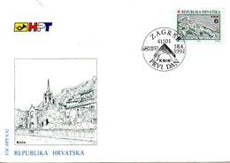 CROATIE. N°153 De 1992 Sur Enveloppe 1er Jour (FDC). Knin. - Croatia