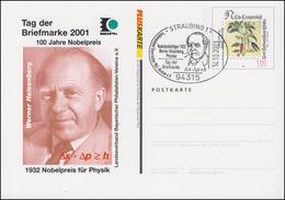Plusbrief PSo 77II Heisenberg Nobelpreis 2001 SSt STRAUBING 14.10.2001 - [7] Federal Republic