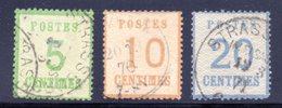 Alsace Lorraine / N° 4 / 5 Et 6 OBL - Alsace-Lorraine