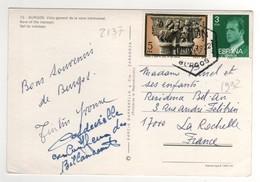 Timbres , Stamps Yvert N° 1992 , 2137  Sur CP , Carte , Postcard De 1979 Pour La France - 1931-Aujourd'hui: II. République - ....Juan Carlos I