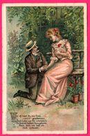 Litho - Wie Oft Hast Du Mir Treu - Faire La Cour - Couple - Couples
