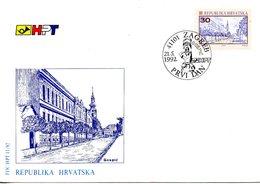CROATIE. N°158 De 1992 Sur Enveloppe 1er Jour (FDC). Gospic. - Croatia