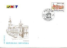 CROATIE. N°179 De 1992 Sur Enveloppe 1er Jour (FDC). Vinkovci. - Croatia