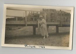 Photographie 14 Calvados Houlgate 1922  Photo Collée Sur Papier 7x11 Cm Env - Places