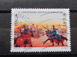 *ITALIA* USATI 2003 - 5° CENT DISFIDA BARLETTA - SASSONE 2674 - LUSSO/FIOR DI STAMPA - 6. 1946-.. Repubblica