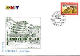 CROATIE. N°159 De 1992 Sur Enveloppe 1er Jour (FDC). Beli Manastu. - Croatia