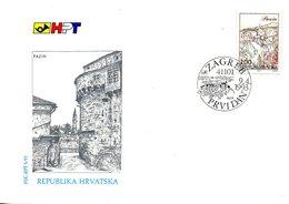 CROATIE. N°189 De 1993 Sur Enveloppe 1er Jour (FDC). Pazin. - Croatia